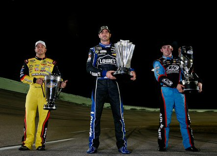 Truck Champion Matt Crafton, 6-Time Sprint Cup Champion Jimmie Johnson, Nationwide Champion Austin Dillon